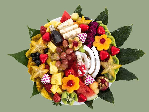 מגשי פירות חתוכים ראשית