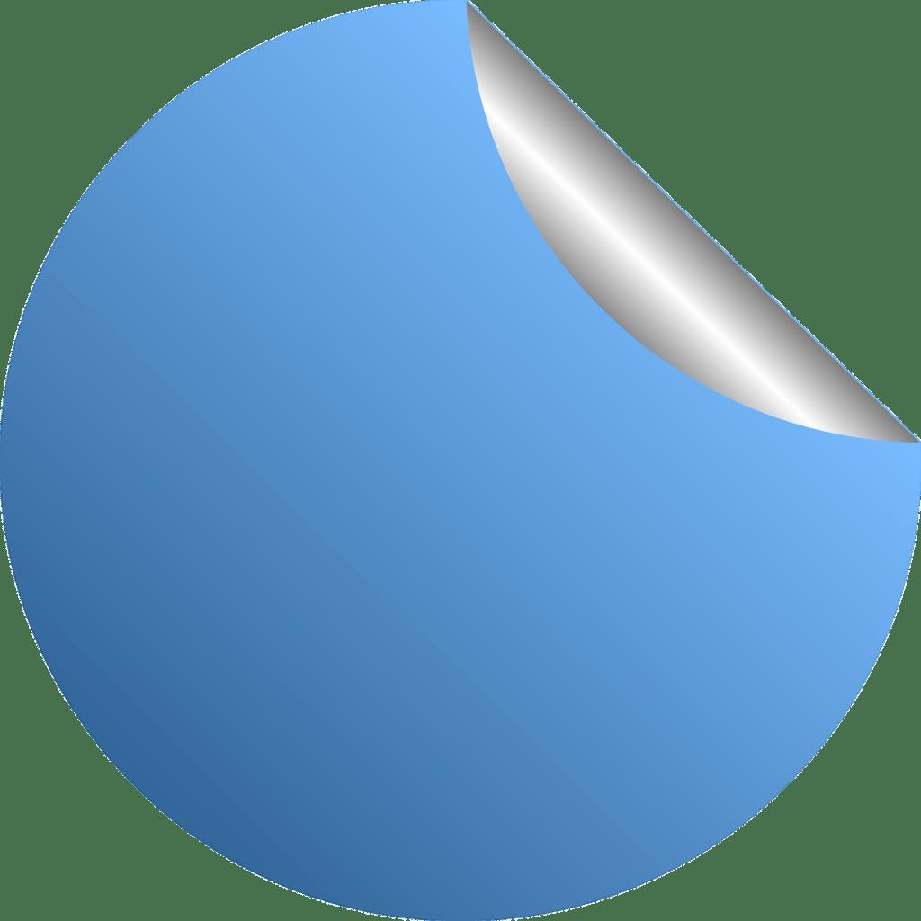 מדבקה כחולה